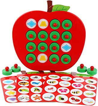 MAOJIE 1 Juego de Madera para niños, Manzana, Memoria, ajedrez, Rompecabezas para Padres e Hijos, Juguetes de Escritorio para educación temprana: Amazon.es: Juguetes y juegos