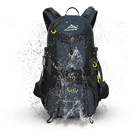d9c189883be7 COUTUDI Outdoor Climbing Backpack Ultra Lightweight Durable Daypack /  Waterproof Nylon Biking Bag For Men and Women Travel Hiking Gear (Dark Blue)