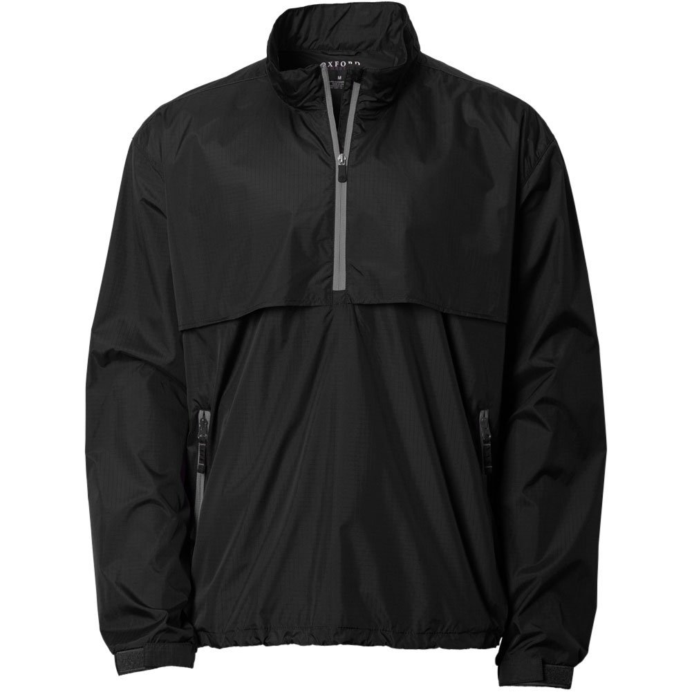 Oxford Men's Ripstop Wind Pullover, 3X-Large, Black