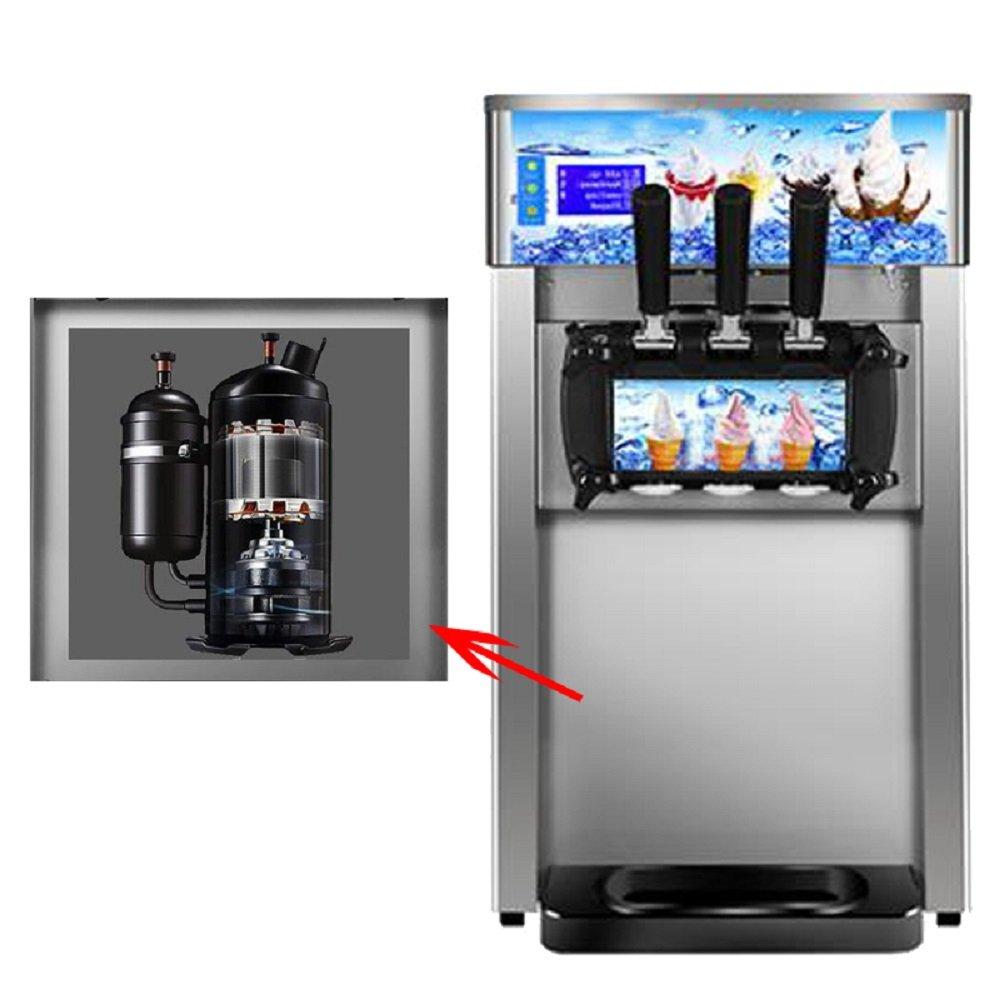 Commercial Ice Cream Machine, 110V / 60Hz 1200W Low Power Small Desktop Soft Ice Cream Making Machine US Plug(Without Refrigerant) by CARESHINE (Image #4)