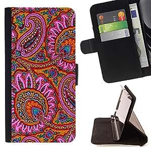 """For LG G4c Curve H522Y (G4 MINI), NOT FOR LG G4,S-type Patrón Alfombra india Flores rosas"""" - Dibujo PU billetera de cuero Funda Case Caso de la piel de la bolsa protectora"""