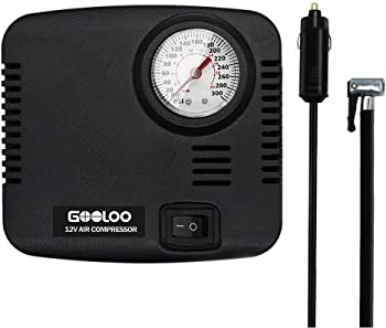 Gooloo Tire Inflator 300PSI 12V DC Auto Air Compressor Pump