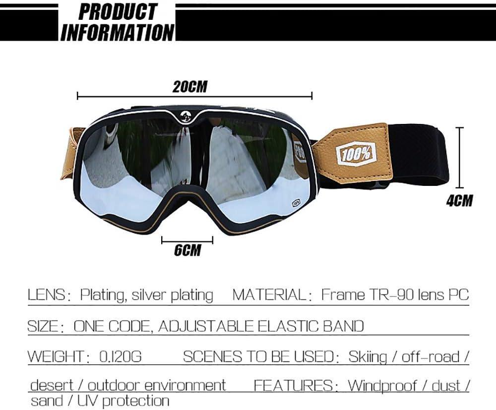 WXZM Skibrille Schutzbrille F/ür Outdoor-sportbrillen Sonnenbrille Mit Uv-schutzbrille Mit Windschock Kompatible Helme,E