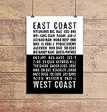 Rap Poster - East West Coast Hiphop Rappers - Subway Poster