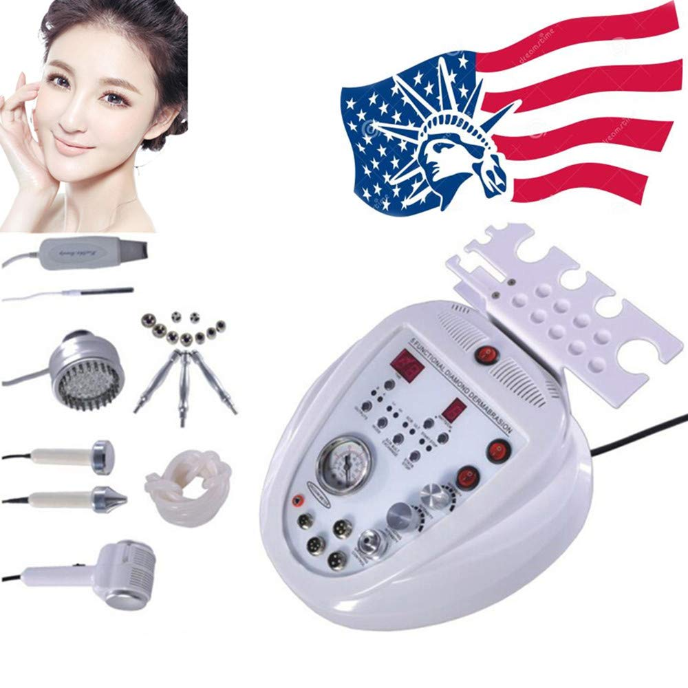 Funwill Shipping from USA Professional 5in1 Peeling Scrubber Machine Facial Skin Care Device Electric Massager Peeling Beauty System Anti-Aging Remover