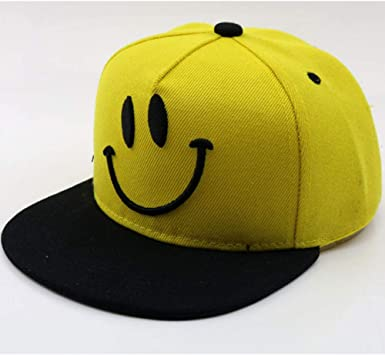 MGUOH Hip Hop Sombrero para Niños Smiley Face Cartoon Child ...