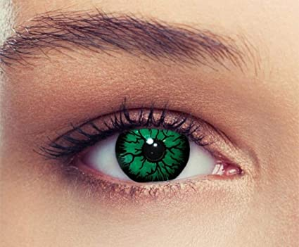 d649c66e33237 PHANTASY Eyes® Lentes de contacto de color - Halloween Crazy lens (GREEN  DEMON) ropa de fiesta ...