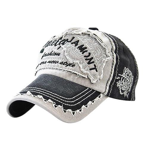 a9a0274992da8 Vertily Hat Unisex Casual Classic Embroidery Adjustable Dad Trucker Baseball  Cap (A)