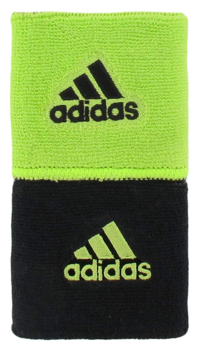 adidas Unisex Interval Reversible Wristband, Slime/Black, ONE SIZE by adidas