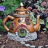"Fiddlehead Fairy Village – ""Tea Pot House"" Fairy Home with Bonus I Believe in Fairies Decal Review"