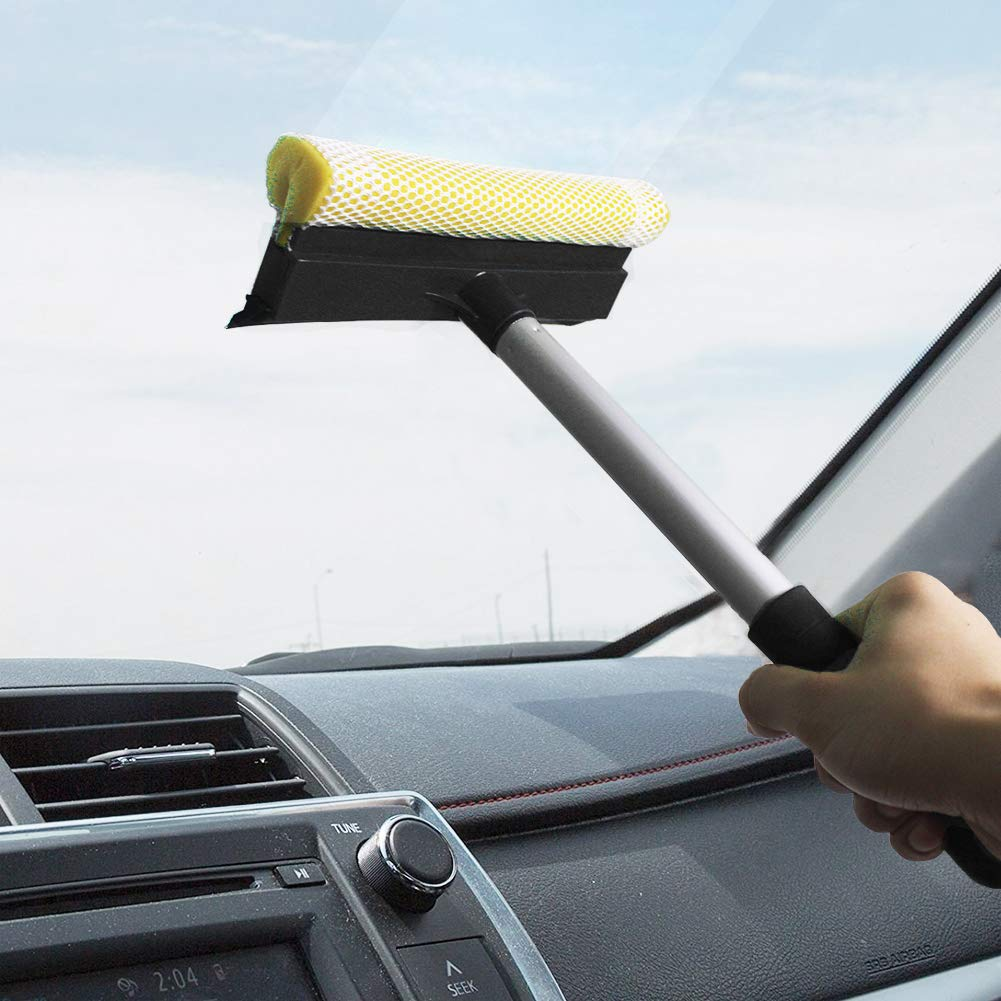 GLOYY 2 in 1 Window Squeegee Cleaning Tool Window Cleaner Car Squeegee Washing Equipment Black