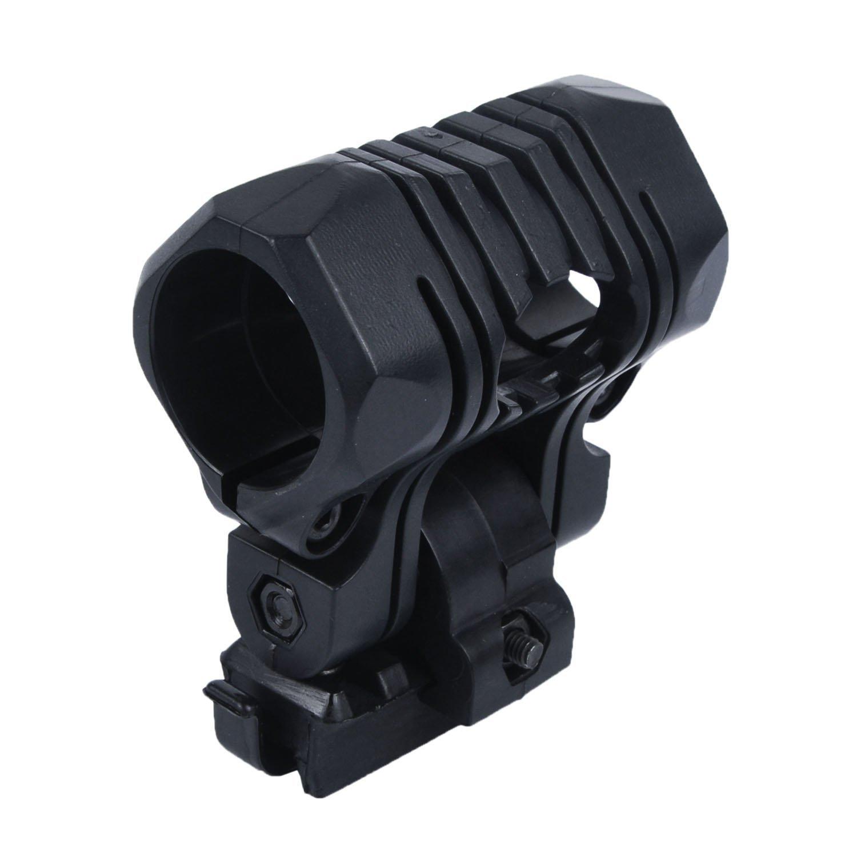 Fast mich Tactical Cascos accesorios Ajustable Linterna Clamp Flash Light Mount Soporte Clip, negro Hotour