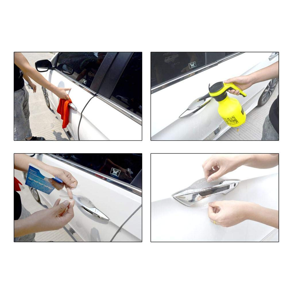 4* Car Auto Door Handle Transparent Protector Films Scratches Protective Sticker