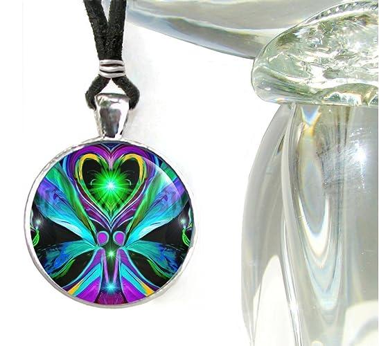 Chakra Jewelry, Twin Flames Angel, Statement Pendant,
