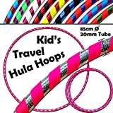 KID's HULA HOOPS - Quality Weighted Children's Hula Hoops! Great For Exercise, Dance, Fitness & FUN! NO Instructions needed! Same Day Dispatch! (UV Pink / Silver Glitter)
