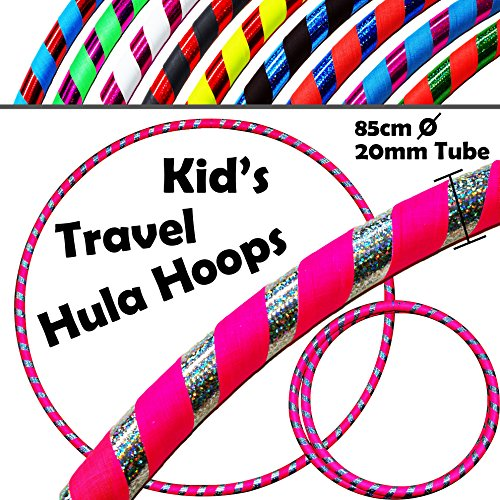 KID's HULA HOOPS - Quality Weighted Children's Hula Hoops! Great For Exercise, Dance, Fitness & FUN! NO Instructions needed! Same Day Dispatch! (UV Pink / Silver (Hulu Hoop)