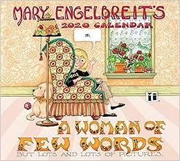 Mary Engelbreit Calendar 2020 Mary Engelbreit 2020 Deluxe Wall Calendar: A Woman of Few Words