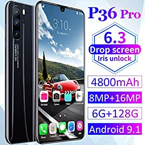 GJRPhone 6.3inch P36 Pro Smartphone 6G + 128GB Android 9.1 Negro ...