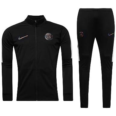 c1d67c0a0a90a Nike PSG Y NK Dry TRK Suit Sqd K - Survêtement Garçon, Couleur Noir ...