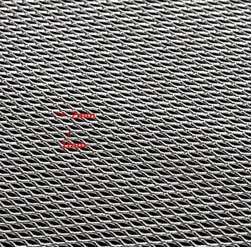 KUNSE 25x20cm Aluminio Modelado Alambre Malla Gruesa Hojas Finas//Medias//Gruesas-2mm