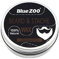 HOMYL Natural Beard Balm Moisturizing Moustache Wax Men Grooming Sweet Orange/Sandalwood/Eucalyptus/Fragrance Free - Sandalwood