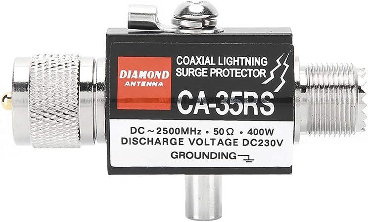Protector contra sobretensiones para pararrayos,Protector contra sobretensiones para pararrayos Cable coaxial de antena Walkie Talkie CA‑35RS PL259 ...