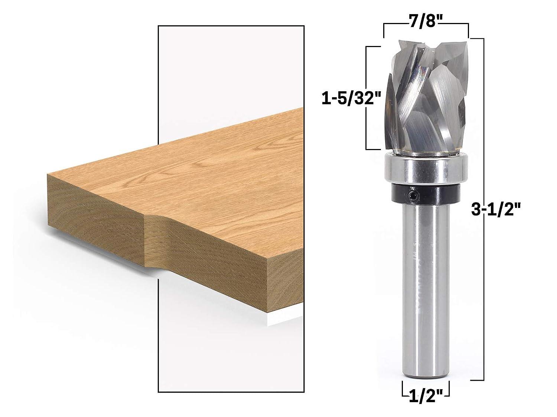 Yonico 33203 Top Bearing Ultra-Perfomance Compression Flush Trim Fr/äser 1//2 Zoll Schaft