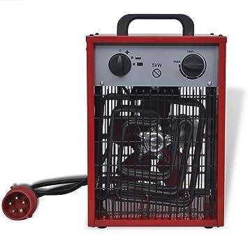 festnight - Estufa eléctrica con ventilación portátil Industrial 5 kW 200 m³/h: Amazon.es: Hogar