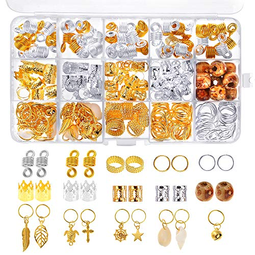 PP OPOUNT 229 Pieces Dreadlocks Beads DIY Hair