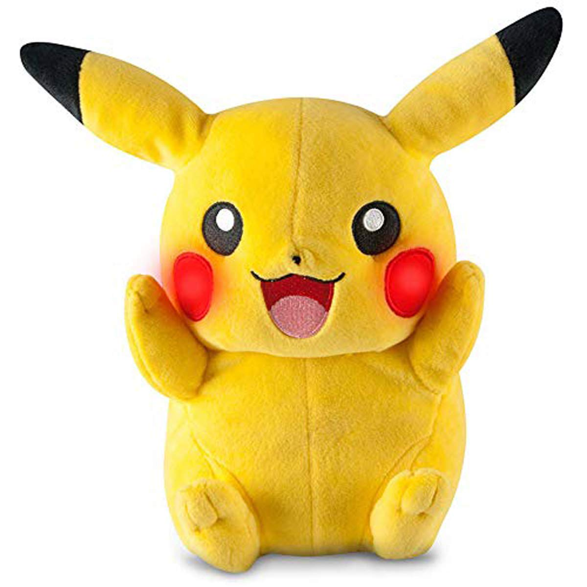 """Pokemon Pikachu Plush Stuffed Animals Large Pillow Toy, 11"""" Inch, for Kids Over Age 3+"""