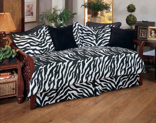 Kimlor Black Zebra Daybed Cover Set Review