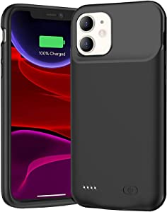Battery Case for iPhone 11, Newest 7000mAh Slim Portable Protective Charging case Compatible with iPhone 11 (6.1 inch) Rechargeable Battery Pack Charger Case (Black)