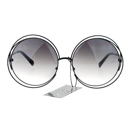 Amazon.com: Avant Garde Double Circle Frame Round Designer Fashion ...