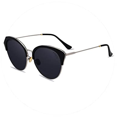9c385f76d1c Image Unavailable. Image not available for. Color  Freezing Luxury  Polarized Sunglasses Vintage Fashion Cat Eyes Sun glasses For Women Brand  Designer ...
