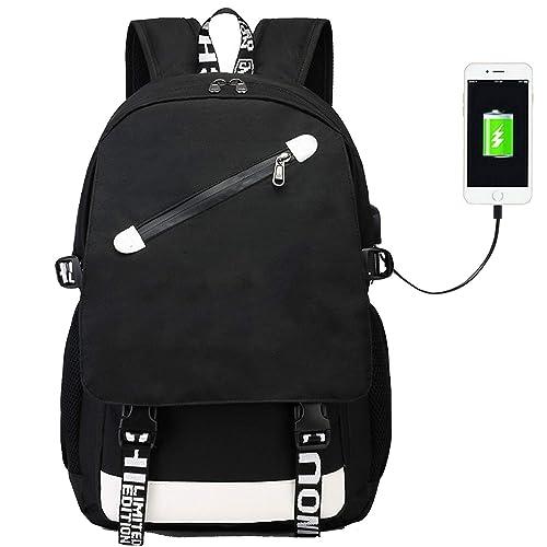 Mochila Battle con Puerto de Carga USB, Mochila para portátil Royale Mochilas Escolares para niños