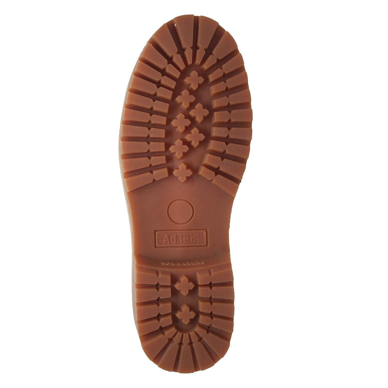 Adtec Mens 6 Nubuck Leather Boot Lightweight Tan Steel Toe Comfortable Oil Resistant
