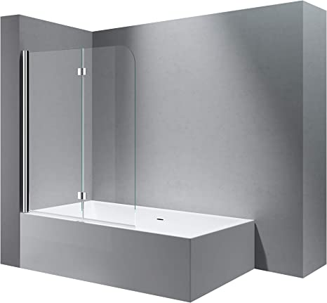 BxH: 117 x 141 cm Mampara de ducha pared para bañera de cristal ...