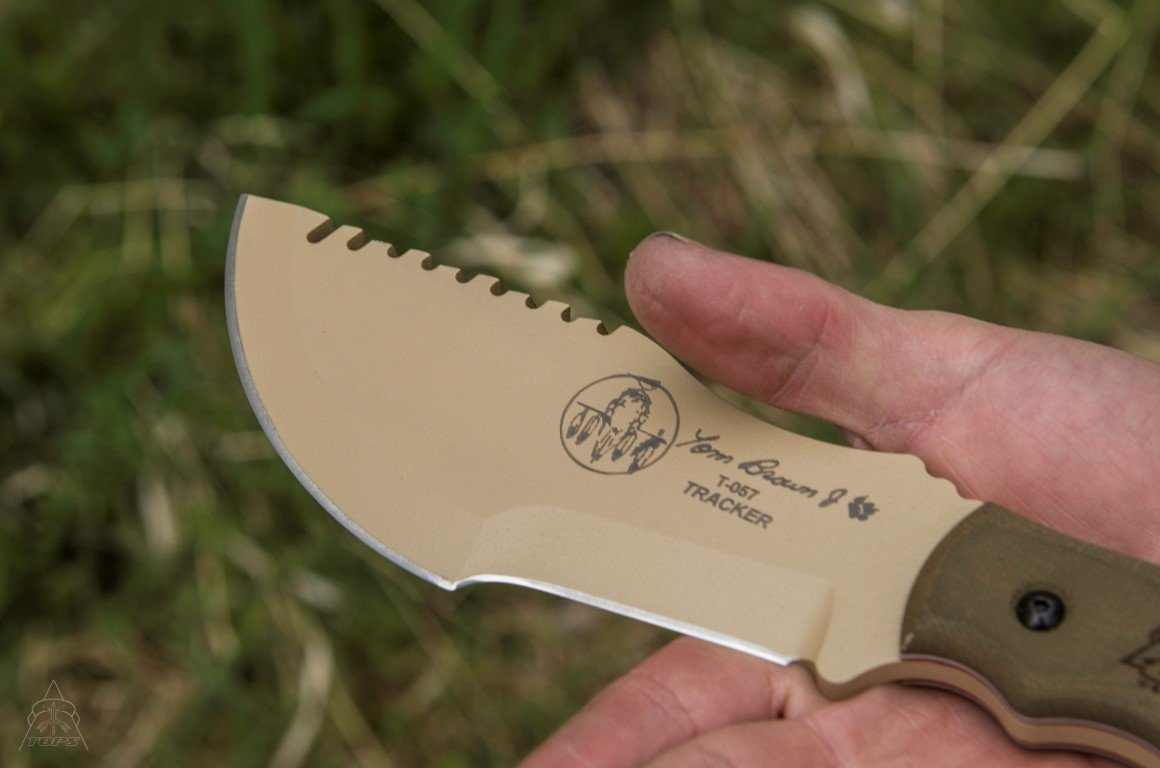 Tops Knives Tom Brown Tan Tracker Fixed Blade Knife by Tops Knives (Image #3)
