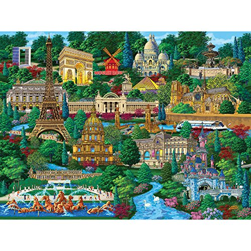 Bits and Pieces - 1000 Piece Jigsaw Puzzle for Adults - Paris City View - 1000 pc France Jigsaw by Artist Joseph -