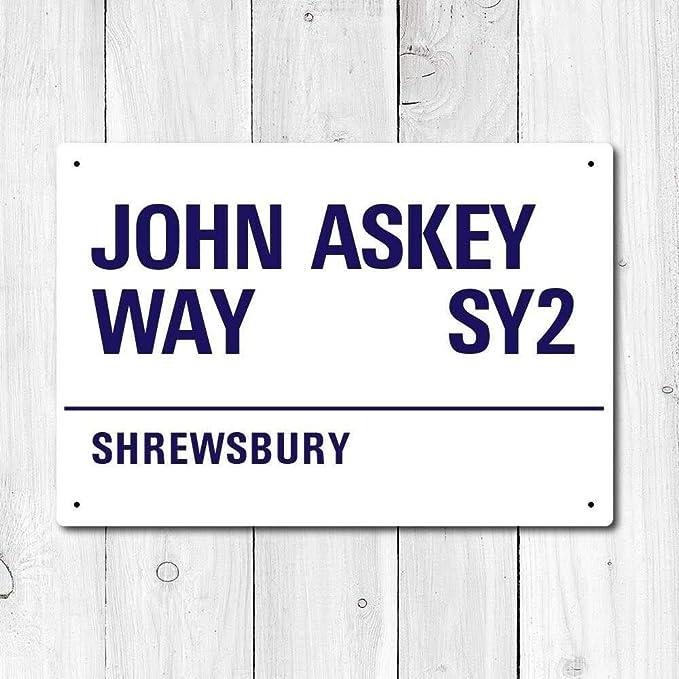 HNNT John Askey Way - Cartel de Metal con Texto en inglés ...