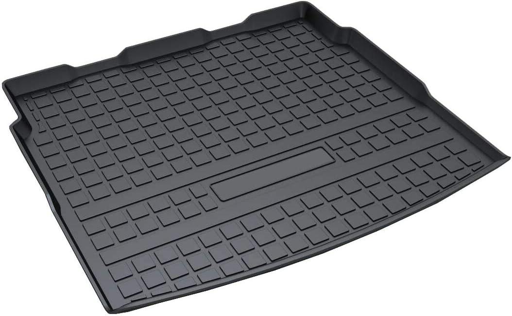 Vesul Rubber Rear Trunk Cover Cargo Liner Trunk Tray Floor Mat Carpet Compatible with VW Volkswagen Tiguan 2018 2019 2020