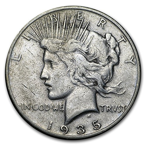 1935 S Peace Dollar VG/VF $1 Very Good