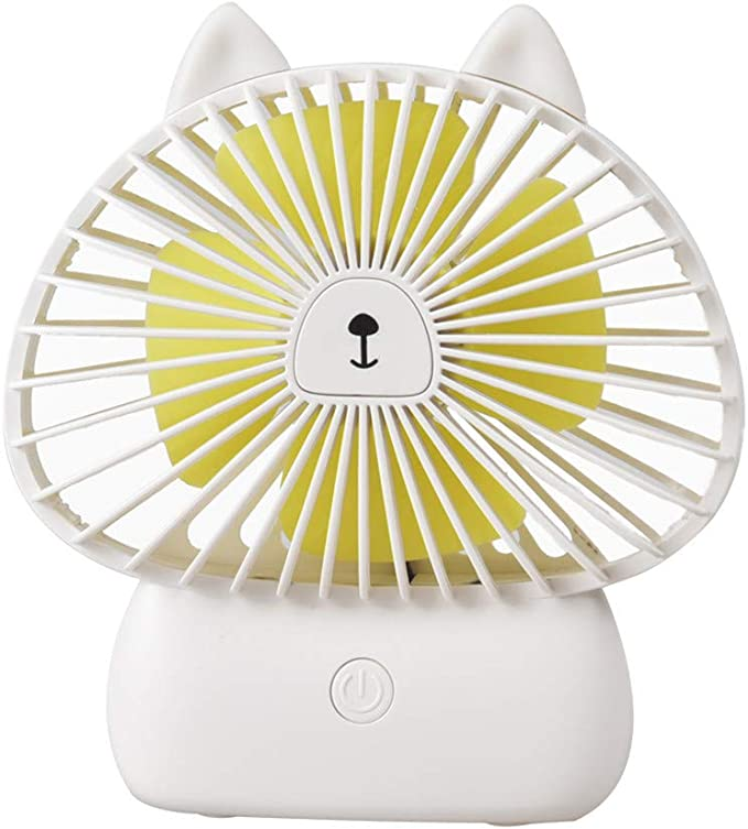 New Mini Portable USB Rechargeable Sweet Blossoming Bluetooth Music Fan Battery Operated for Bedroom Office Travel for Women Kids