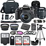 Canon EOS Digital Rebel T6s 24.2MP SLR Digital Camera with Canon EF-S 18-55mm f/3.5-5.6 IS STM Lens + Tamron Zoom Telephoto AF 70-300mm f/4-5.6 Lens + 2pc SanDisk 32GB Memory Cards + Accessory Kit