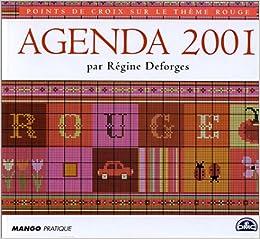 Agenda 2001 Point de Croix : Rouge