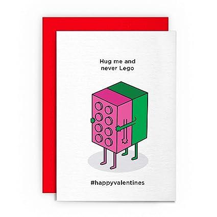 Tarjeta de San Valentín - Hug Me and Never Lego - Divertido ...