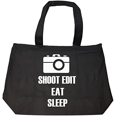 70%OFF Shoot Edit Eat Sleep Repeat Photographer T Shirt - Tote Bag With Zip