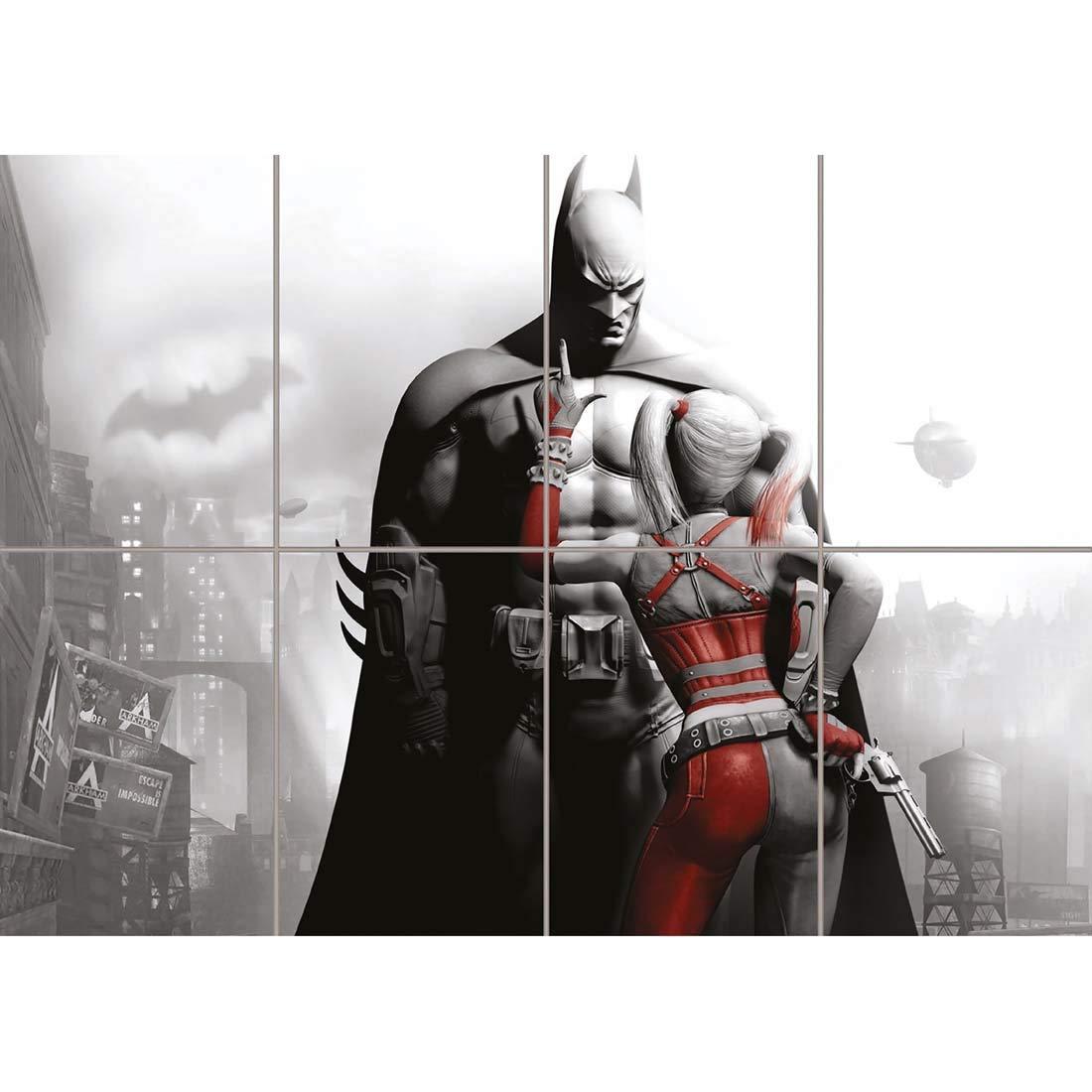 Doppelganger33 LTD Batman and Harley Quinn Poster - Comic Giant Art Print ST563