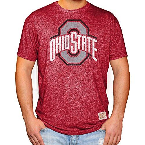 Buckeyes State Shirts Ohio (Elite Fan Shop Ohio State Buckeyes Retro Tshirt Scarlet - L)
