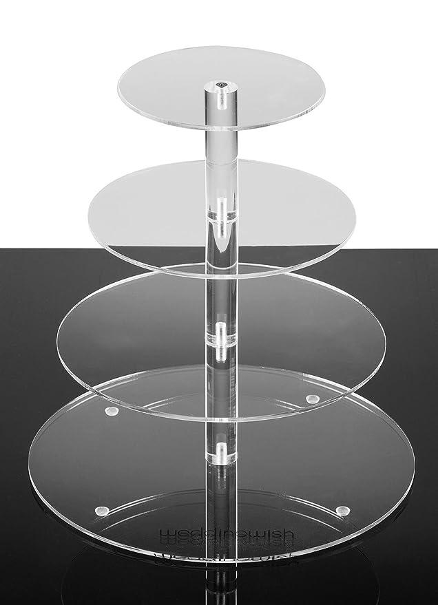 Amazon.com | Weddingwish 4-Tier Round Acrylic Cupcake Stand ...: Cupcake Stands
